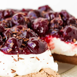 Cherry Chocolate Pavlova