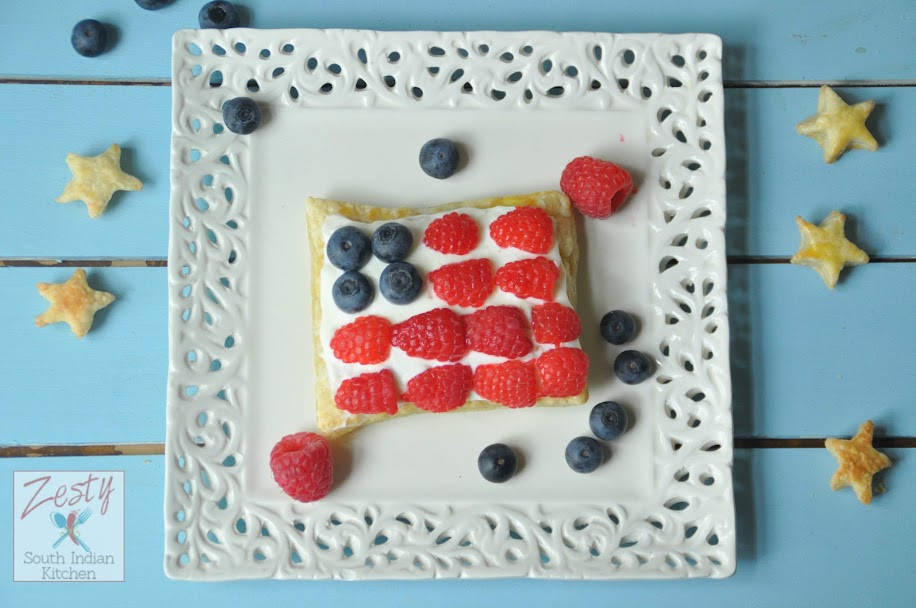 Patriotic Puff pastries
