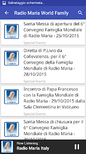 Radio Maria World Family: miniatura de captura de pantalla