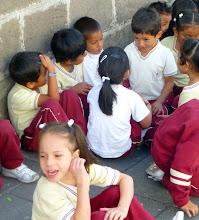 Photo: The kids waiting (detail)