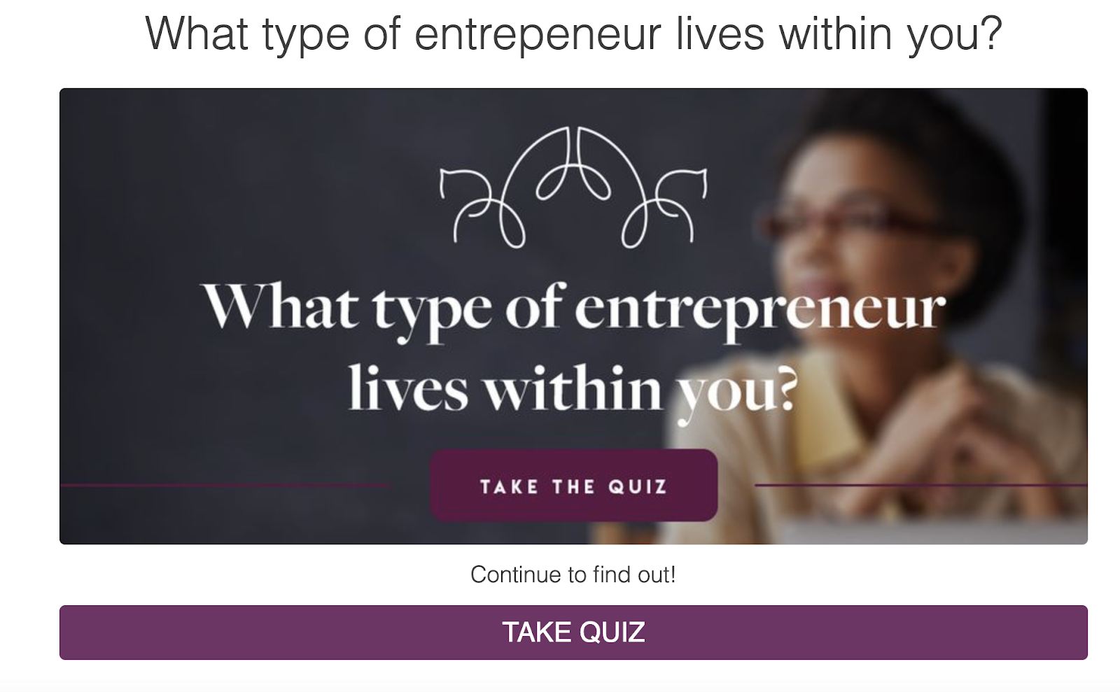 what type of entrepreneur lives within you quiz cover