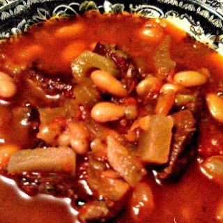 "Slow Cooker ""Cowboy Steak and Bean Stew""!"