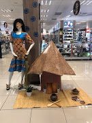 An installation outside Dischem at Killarney Mall.  The display is said to be part of their