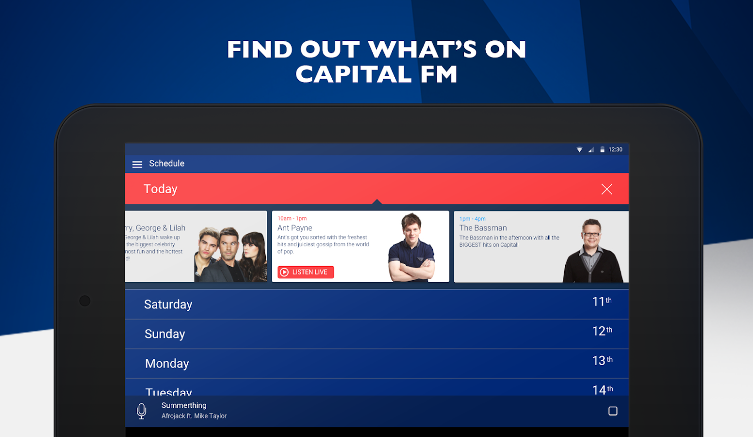 Capital FM Radio App- screenshot
