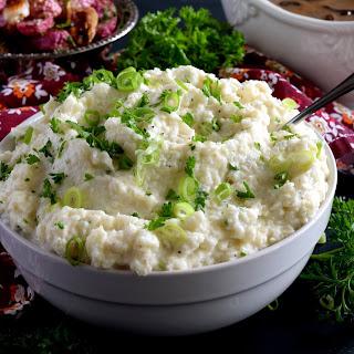 Mashed Cauliflower with Cream Cheese.