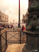Photo: Links Dogenpalast, dann St.Giorgo Turm, Venezianischer Löwe auf Säule.