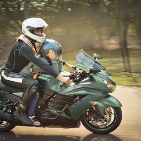 Motocycle by Василий Дыкин - Transportation Motorcycles ( motocycle, riding, children, baby, man )