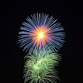 Diamonds in the sky 2018 by Marco Aquilina - Abstract Fire & Fireworks ( firework, st georges, malta, qormi, feast,  )