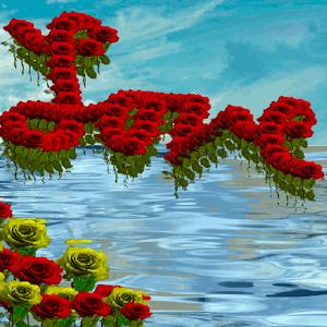 Love Wallpaper Heart Flowers Sizes
