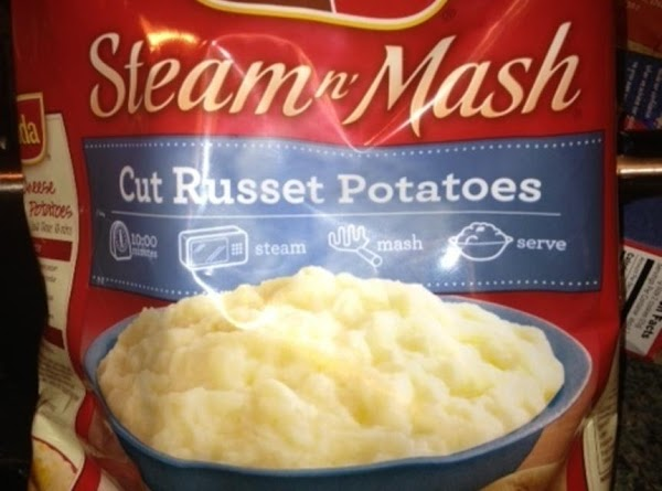 Microwave your bag of Steam 'N Mash for 10 minutes.