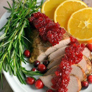 Spiced Pork Tenderloin with Cranberry Relish Recipe