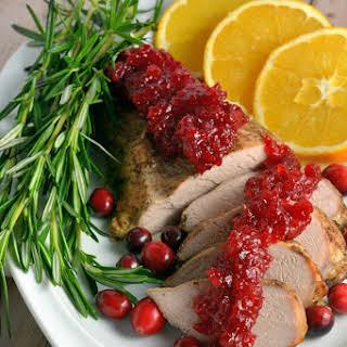 Spiced Pork Tenderloin with Cranberry Relish.