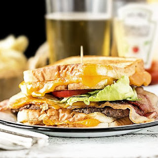 Grilled Cheese Bacon Burger.