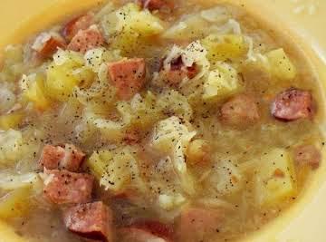 Polish Sausage and Cabbage Soup Crock Pot
