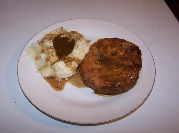 Chicken Fried Steak With Homemade Mashed Potatoes And Gravy