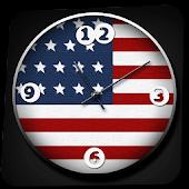USA Analog Clock Widget