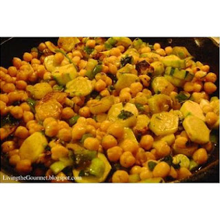 Grilled Zucchini With Chick Peas