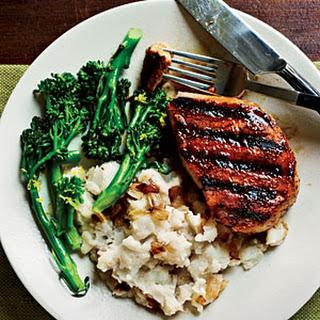 Smoky Pan-Grilled Pork Chops.