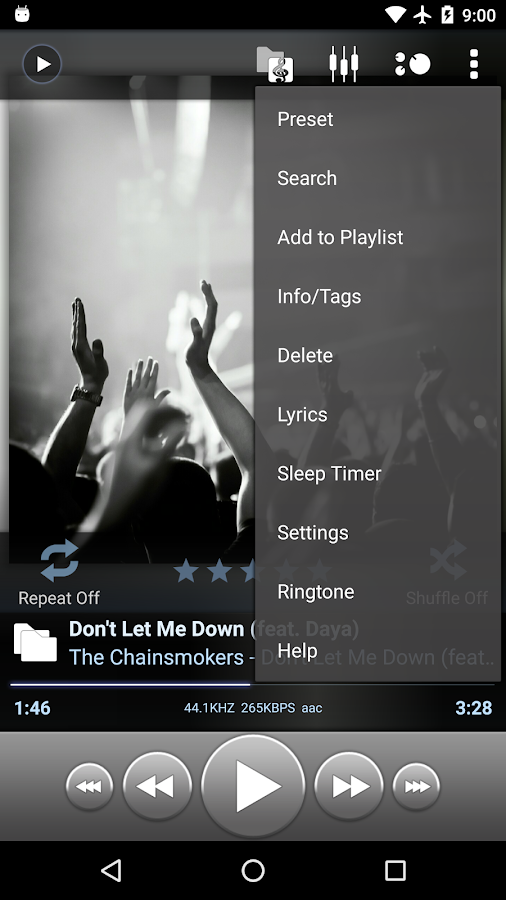 Poweramp Full Version Unlocker – Capture d'écran