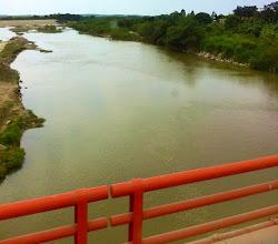 Photo: River bordering Ecuador and Peru.