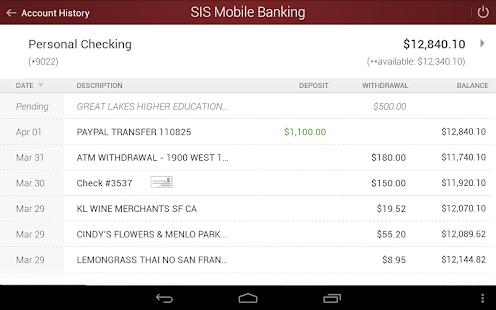 SIS Mobile Banking- screenshot thumbnail
