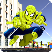 Incredible Flying Superhero Spider City Rescue Android APK Download Free By Amazing Action Game Studio