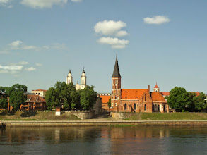 Photo: We stopped at Kaunas for lunch.  The second largest city in Lithuania, Kaunas is located at the confluence of the two largest Lithuanian rivers.