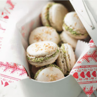 French Macarons with Raspberry Filling and Pistachios Recipe