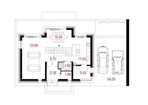House 08 - Rzut parteru