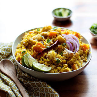 Biryani-Inspired Autumn Vegetable Rice.