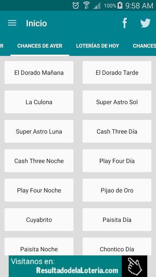 Resultado Loterias Colombia- screenshot