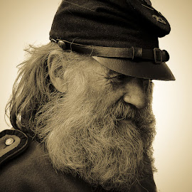 Old Timer  by John More - People Portraits of Men ( old, beard, portriat, man, profile )