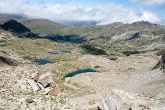Photo: Andorra (Pessons):  estanys del circ de Pessons des de la collada
