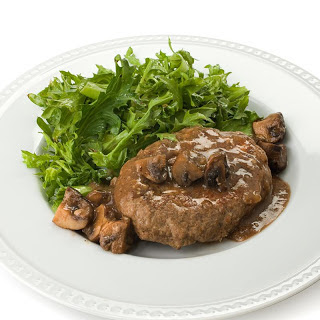 Salisbury Steak with Mushroom Gravy.