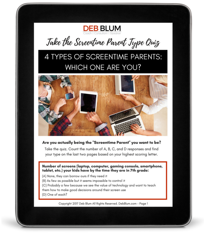 4 Types of Screen Time Parents Quiz