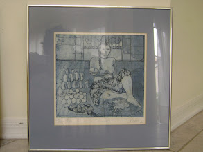 "Photo: María del Carmen Cachin Marusich,   ""Boliviana"",  Aguafuerte grabado sobre papel, prueba de artista, Córdoba, Argentina, 1987"