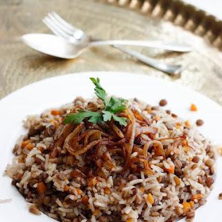 Mujaddara ~ Palestinian Lentils & Rice