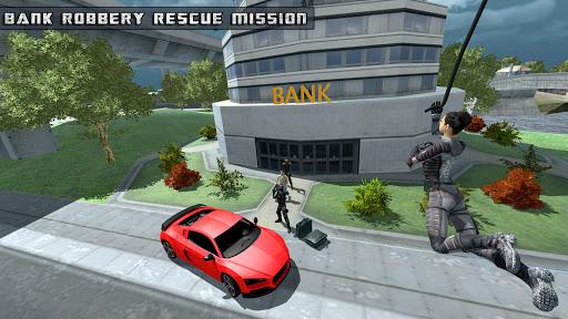 Flying Girl Rope Hero Spider Swing Game 1.3 screenshots 4