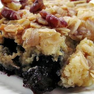 Blueberry Dump Cake Cobbler.