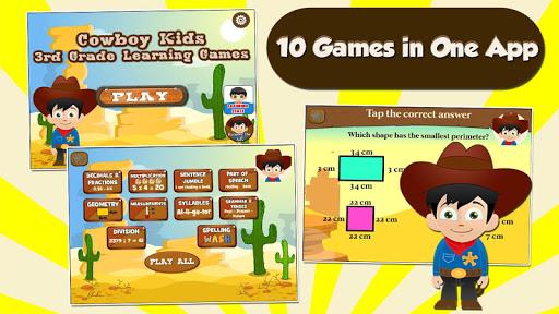 Cowboy Kids 3rd Grade Games