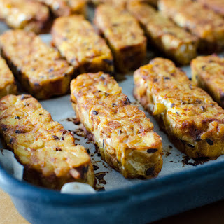 Baked BBQ Tempeh.