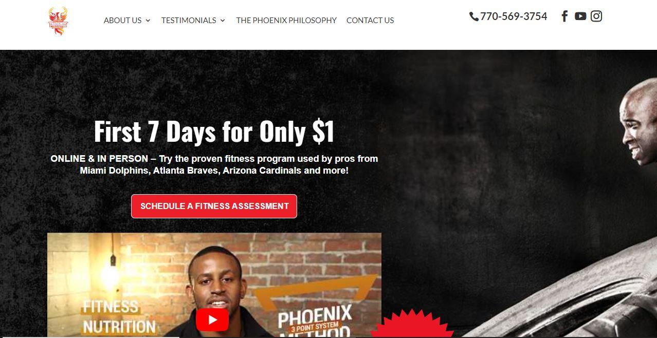 Personal trainer website, Built Phoenix Strong.
