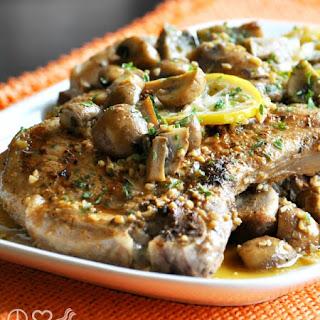 Lemon Garlic Pork Steaks with Mushrooms – Low Carb, Gluten Free.