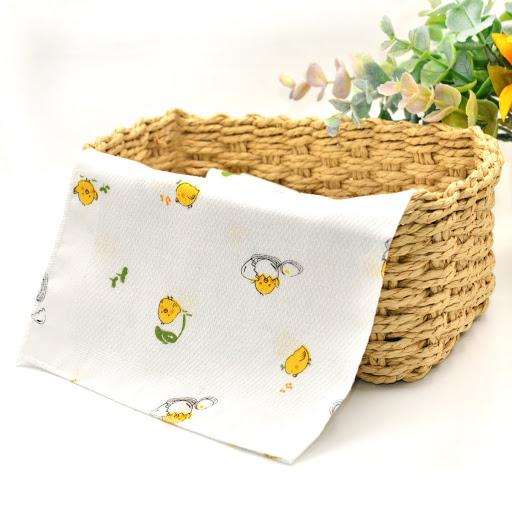 全棉嬰兒紗巾 (小雞 - 5片裝)