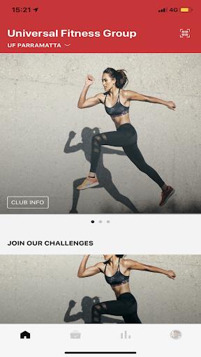 Screenshots der Universal Fitness Group 1