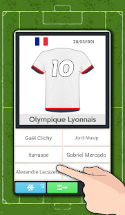Players' dorsals football quiz- screenshot thumbnail
