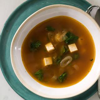 Vegetable Soup with Sriracha, Lemongrass, and Tofu