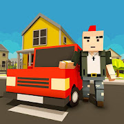 Virtual Life In A Simple Blocky Town