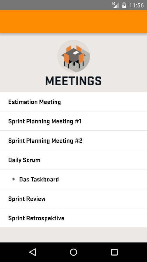 Scrum App- screenshot