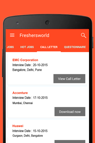 Freshersworld Jobs Search- screenshot